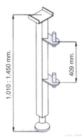 08115188 Niski maszt do wyciągarki Camac: P-200, 2003, Millennium 325, P-150 i M-100