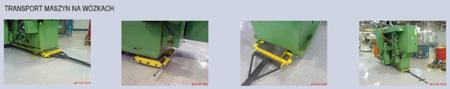 12235603 Wózek skrętny 8 rolkowy, rolki: 8x kompozyt (nośność: 12 T)