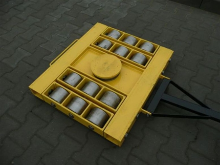 12235608 Wózek skrętny 12 rolkowy, rolki: 12x stal (nośność: 60 T)