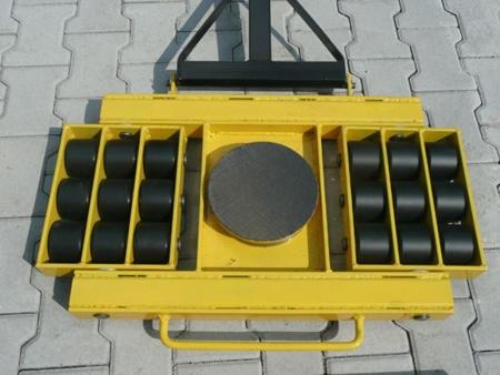 12235611 Wózek skrętny 18 rolkowy, rolki: 18x stal (nośność: 28 T)