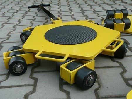 12258864 Wózek rotacyjny stały, rolki: 3x nylon (nośność: 2 T)