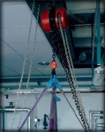 2209157 Wciągnik łańcuchowy z przekładnią planetarną Z100/7.5t (wysokość podnoszenia: 6m, udźwig: 7,5 T)