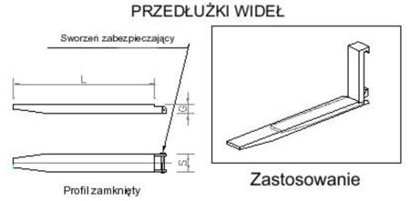 29016482 Przedłużki wideł udźwig 3500kg (1700mm)