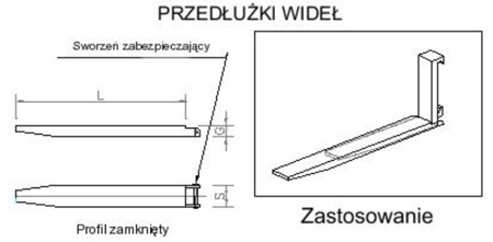 29016496 Przedłużki wideł udźwig 5000kg (2100mm)
