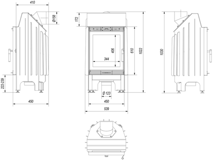 30040872 Wkład kominkowy 8kW Blanka (szyba prosta)
