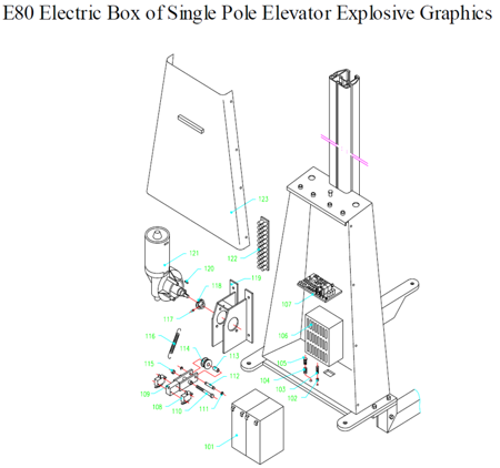 310412 Wózek podnośnikowy elektryczny E80 (udźwig: 80 kg)