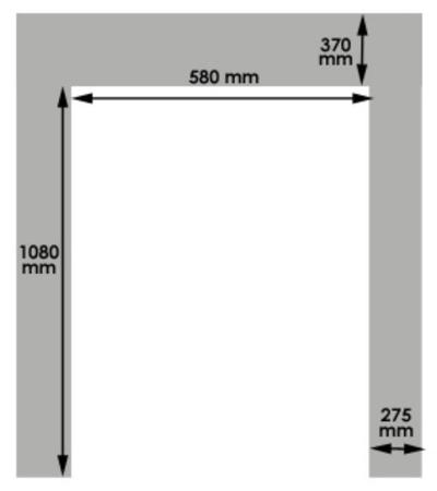 """310529 Stół podnośny niskoprofilowy w kształcie litery """"U"""" SU1001 (udźwig: 1000 kg)"""
