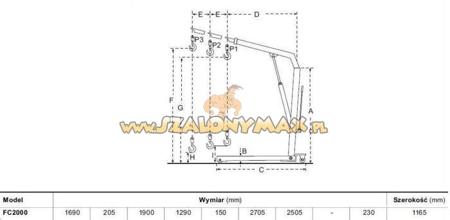 310669 Żurawik warsztatowy składany FC2000 (udźwig: 2000 kg)