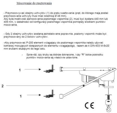 37515645 Wciągarka budowlana Preme Minor P-170 (udźwig: 170 kg)