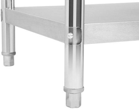 4564355 Stół roboczy ze stali nierdzewnej z kantem Royal Catering RCAT-150/60-S (wymiary: 150 x 60 x 85 cm)