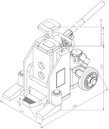 49930344 Podnośnik hydrauliczny V10K - wersja obniżona (nośność: 10T)