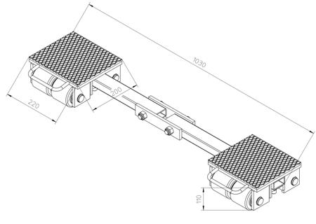 4993990 Podwozie transportowe F6 (nośność: 6T)