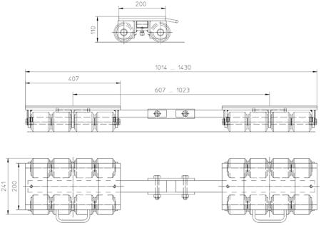 4993994 Podwozie transportowe F12 (nośność: 12T)