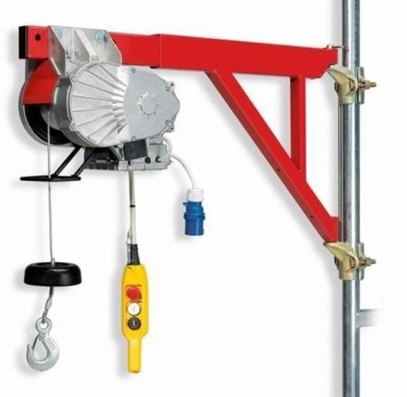 55547201 Wciągarka budowlana elektryczna Bellussi HE 150 Veloce CED + zdalne sterowanie z niskim napięciem (udźwig: 150 kg, długość liny: 40m)