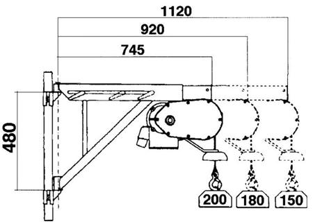 55547203 Wciągarka budowlana elektryczna Bellussi HE 235 CED + zdalne sterowanie z niskim napięciem (udźwig: 200 kg, długość liny: 25m)