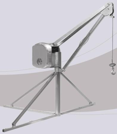 55547210 Wciągarka budowlana elektryczna Bellussi HE 525 MF, obrotowa, w komplecie z podstawą (udźwig: 500 kg, długość liny: 60m)
