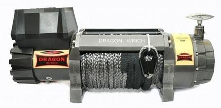 55925175 Wyciągarka samochodowa Dragon Winch Highlander DWH 12000 HD 12V, z liną syntetyczną 26m, hamulec dynamiczny (udźwig: 12000 lb/ 5443 kg, silnik: 9KM)