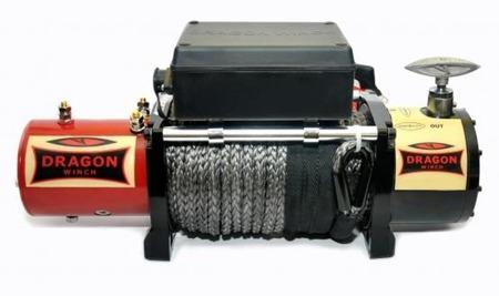 55960152 Wyciągarka samochodowa Dragon Winch Maverick DWM 12000 HD S 24V hamulec dynamiczny, z liną stalową 28m (udźwig: 12000 lb/ 5443 kg, silnik: 6,8KM)