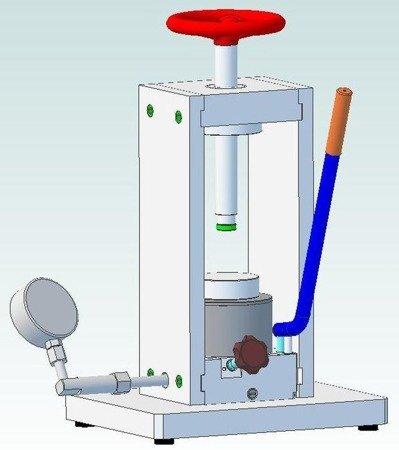 61716535 Prasa laboratoryjna (max siła na tłoczysku - 25T)