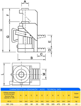 62725745 Podnośnik z bocznym podnoszeniem (udźwig: 18T)