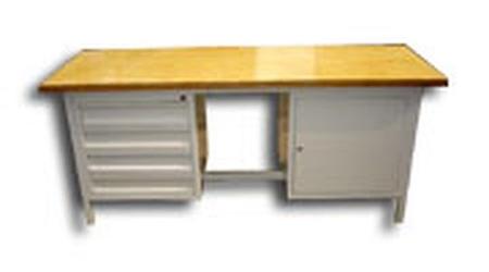 77156882 Stół warsztatowy, 5 szuflad, 1 szafka (wymiary: 2000x750x900 mm)