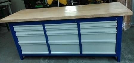 77156977 Stół warsztatowy, 12 szuflad (wymiary: 2000x750x900 mm)