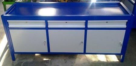 77156986 Stół warsztatowy, 3 szafki, 3 szuflady (wymiary: 2000x750x900 mm)