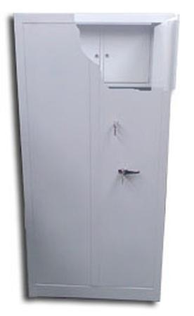 77157056 Szafa biurowa wzmocniona, 3 półki, 2 skarbczyki (wymiary: 2000x900x460 mm)