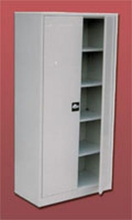 77157088 Szafa biurowa ekonomiczna, 2 drzwi, 4 półki regulowane (wymiary: 1800x800x440 mm)