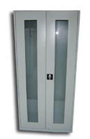 77157101 Szafa biurowa przeszklona, 2 drzwi, 5 półki (wymiary: 2000x1200x500 mm)