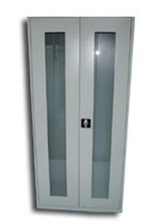 77157185 Szafa narzędziowa przeszklona, 2 drzwi, 4 półki (wymiary: 1800x970x460 mm)