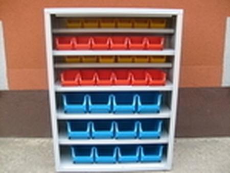 77157199 Szafka narzędziowa z pojemnikami plastikowymi, 36 pojemników (wymiary: 1000x750x275 mm)