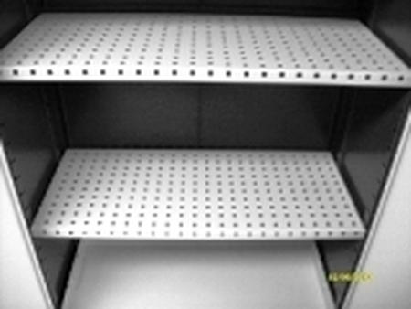 77157291 Szafa na chemikalia z wanną ociekową, 2 półki (wymiary: 1000x800x500 mm)