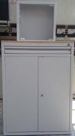 77157296 Szafa na komputer, szuflada, 3 półki (wymiary: 1000x750x700 mm)