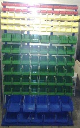 77157418 Regał z pojemnikami plastikowymi, 118 pojemników (wymiary: 2000x1200x400 mm)