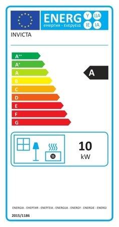 86854960 Piec wolnostojący Invicta 10kW Fifty (górna średnica wylotu spalin: 150mm, kolor: antracyt)