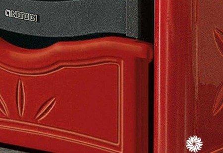88810884 Piec wolnostojący z piekarnikiem La Nordica 8kW NICOLETTA FORNO BO (piekarnik, kolor: bordo)