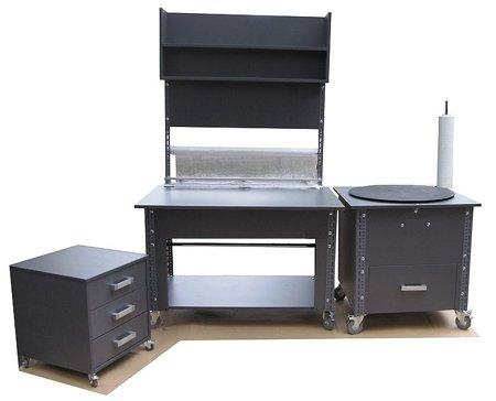 91059984 Stoisko do pakowania, stoisko do pracy (zestaw składa się z 3 części)