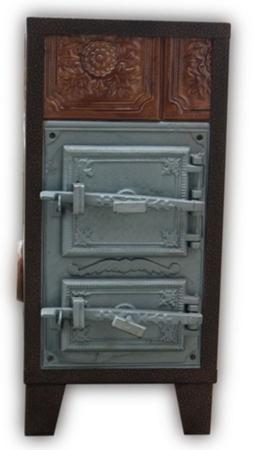 92238181 Piec grzewczy kaflowy 7,8kW Retro trzywarstwowy na drewno i węgiel (kolor: beż)