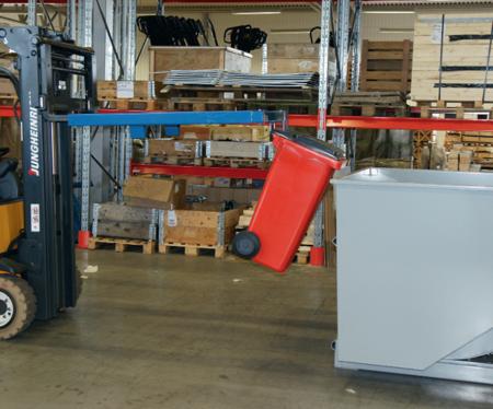 99724731 Uchwyt do opróżniania koszy na śmieci GermanTech (pojemniki od 40 do 400 L)