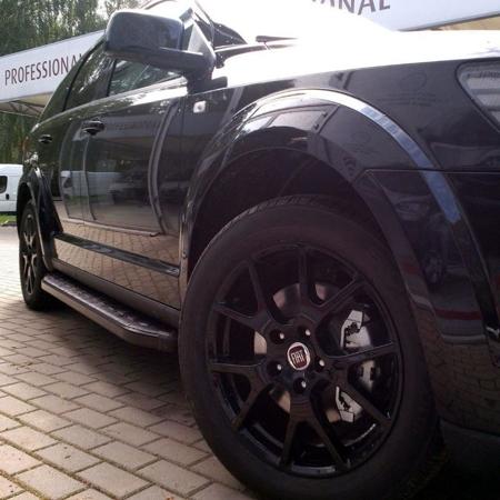 DOSTAWA GRATIS! 01655983 Stopnie boczne, czarne - Volkswagen T5 & T6 2015- long (długość: 252 cm)
