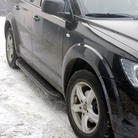DOSTAWA GRATIS! 01656104 Stopnie boczne, czarne - Ford Ranger III 2012- (długość: 193 cm)