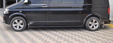 DOSTAWA GRATIS! 01656175 Stopnie boczne, czarne - Volkswagen T5 & T6 2015- short (długość: 205-217 cm)