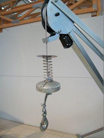DOSTAWA GRATIS! 55547210 Wciągarka budowlana elektryczna, obrotowa, w komplecie z podstawą (udźwig: 500 kg, długość liny: 60m)