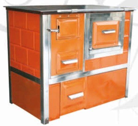 DOSTAWA GRATIS! 92238158 Kuchnia węglowa 9,5kW Monika z wężownicą (kolor: brąz)