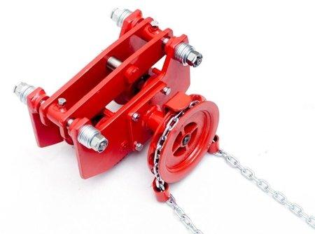 DOSTAWA GRATIS! 9588169 Wózek szynowy do wciągników przejezdnych (udźwig: 1,5 T)