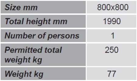 DOSTAWA GRATIS! 99724902 Kosz roboczy do wózka widłowego GermanTech (wymiary: 800x800 mm)